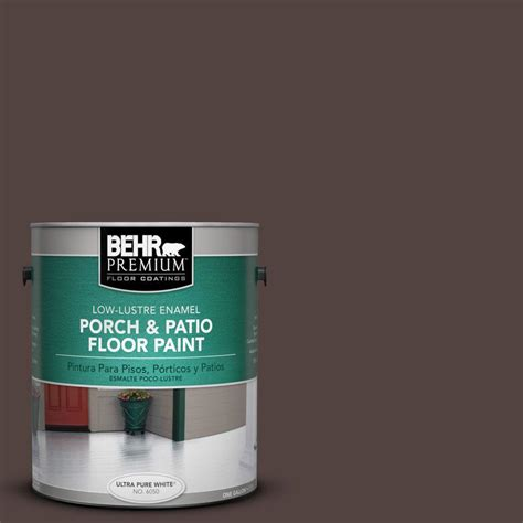 behr premium 1 gal pfc 25 walnut low lustre porch and patio floor paint 630001 the home