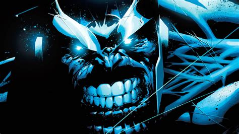 hd thanos blue face marvel wide wallpaper