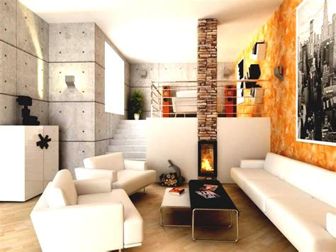 small living room design with fireplace modern house