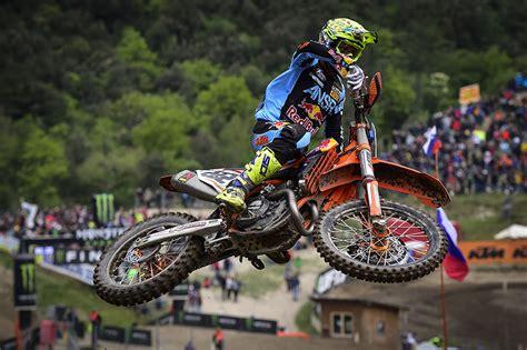 who won the motocross race today cairoli and kjer olsen win the qualifying races in