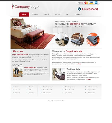 Carpet Cleaning Website Templates On Behance Carpet Cleaning Website Template