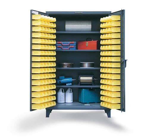 plastic bin storage cabinets strong hold products bin storage cabinet with shelvesbin