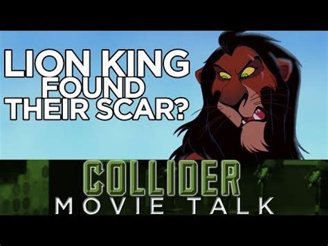 film lion king youtube lion king may have found their scar collider movie talk