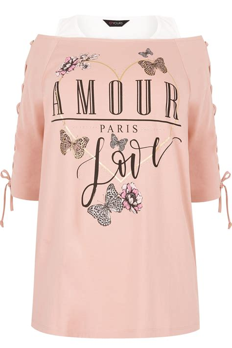 where can i buy color contacts pink amour bardot top with eyelet lattice sleeves plus