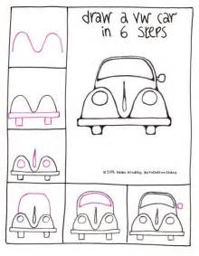 Draw A VW Beetle Car In 6 Steps  Learn To Art Guides sketch template