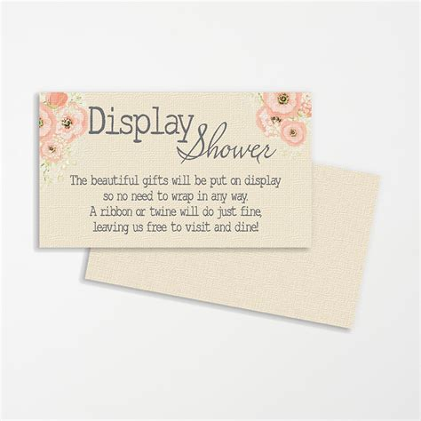 Baby Shower Display by Display Shower Invitation Insert The Emmelyn Collection