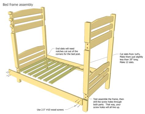 parts of the bed bunk bed plans