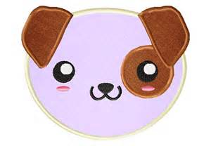Design My Kitchen Free by Kawaii Puppy Face Includes Both Applique And Stitched