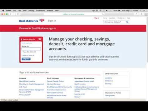 v bank login bank of america banking login