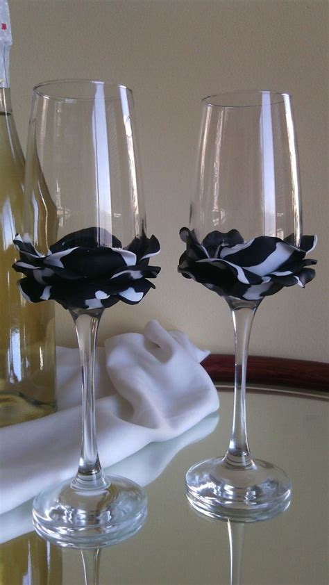 1221 best images about wedding glasses on Pinterest