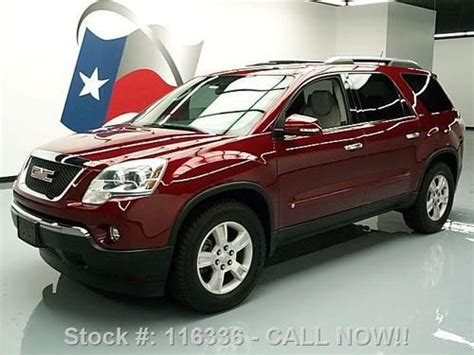 2009 gmc acadia slt awd navi leather dual moonroof canadian mississauga ontario used car for sale sell used 2009 gmc acadia slt dual sunroof htd leather 54k miles texas direct auto in stafford