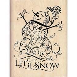 inkadinkado filigree snowman wood mounted rubber stamp dd