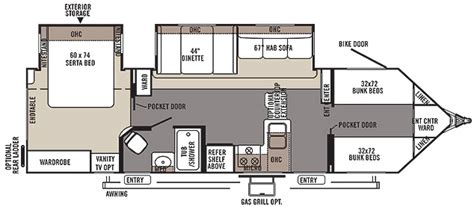 Forest River Travel Trailers Floor Plans by Forest River Flagstaff V Lite 30wrbs El Rastreador De