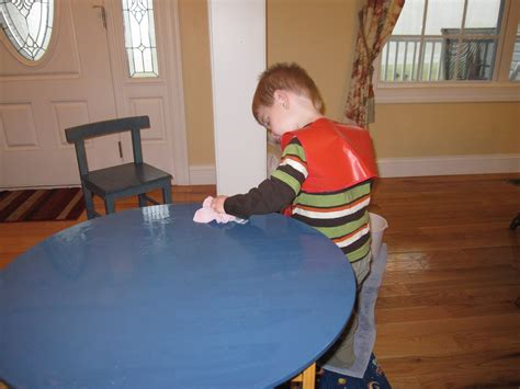 Cleaning Table by Washing A Table 3yo Style Our Montessori Home