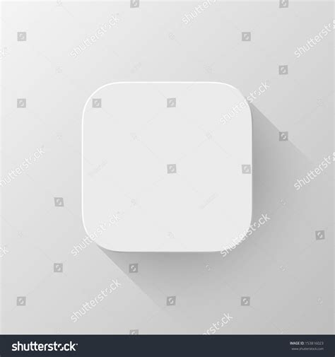 white background app white technology app icon button blank stock vector