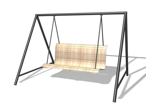 swing 3d outdoor swing chair 3d model 3ds max files free download