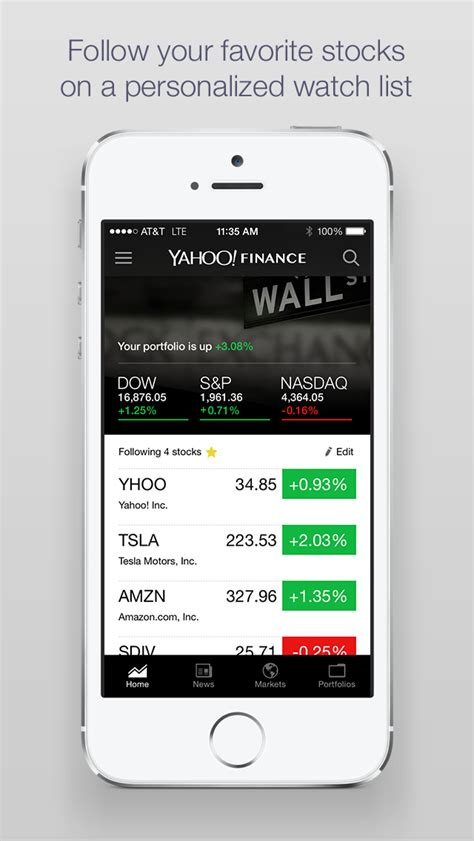 yahoo finance stock quotes mobile yahoo finance real time stock quotes and news apps