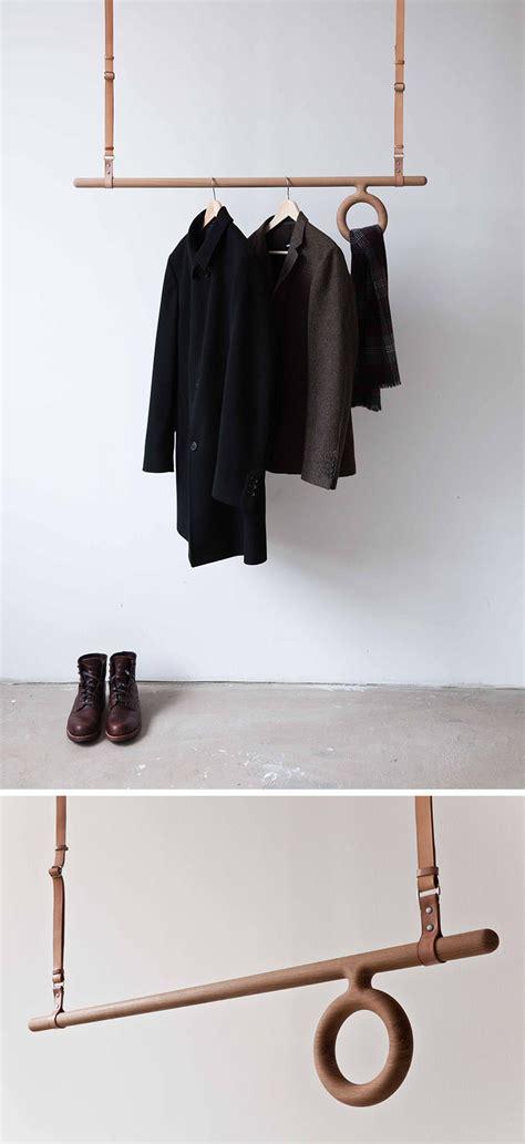coat hanging ideas interior design idea coat racks that hang from the ceiling contemporist