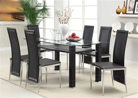 glass dining room table set glass dining room sets for modern interior style nove home
