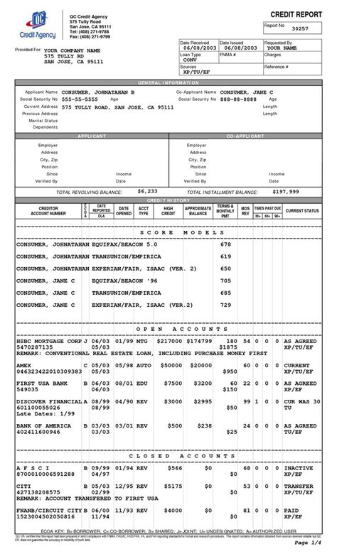 Credit History Template 3 Credit Reports And Scores Cheap Credit Score Repair Companies Credit Report Template