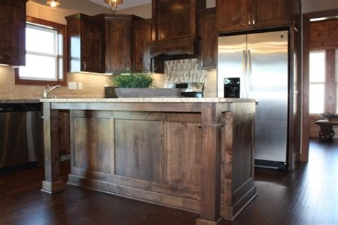 Wood Stain For Kitchen Cabinets custom knotty alder cabinets mc custom homes