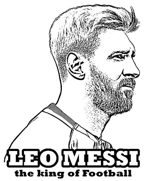 lionel messi free coloring page for children fc barcelona
