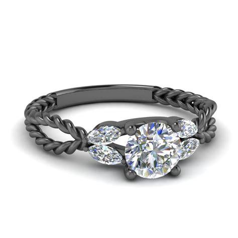 black gold engagement rings fascinating diamonds