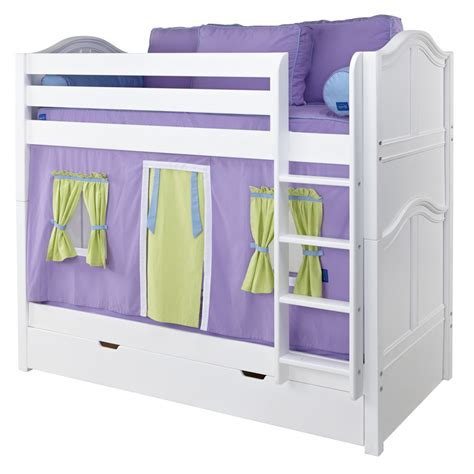 playhouse bunk beds get it mid size playhouse bunk bed in white by maxtrix 740 1