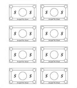 Custom play money template
