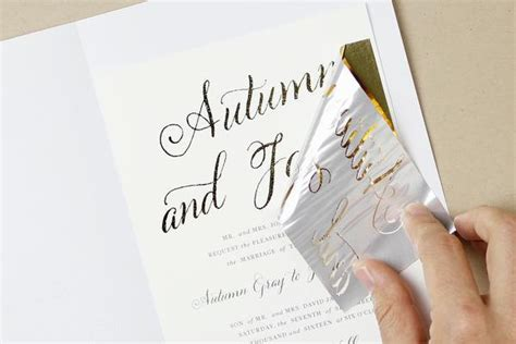 inkjet paper wedding invitations how to diy foil wedding invitations diy gold foil printing