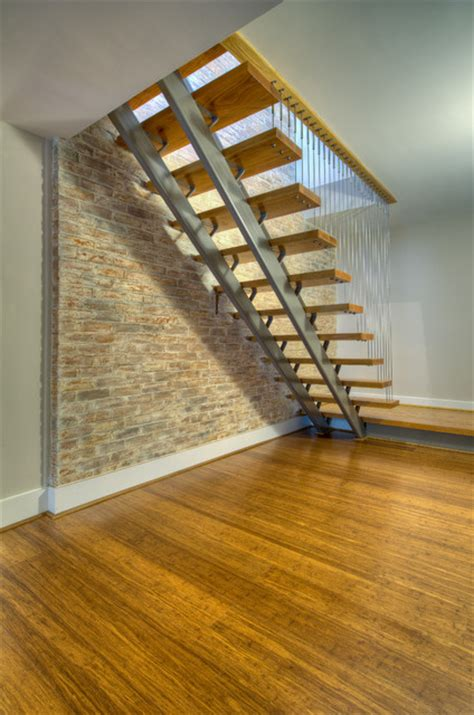building basement stairs basement staircase modern staircase other metro by moss building and design