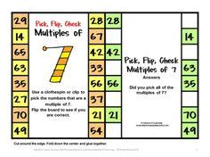 freebies multiples and division clip math for fourth grade on math task cards task