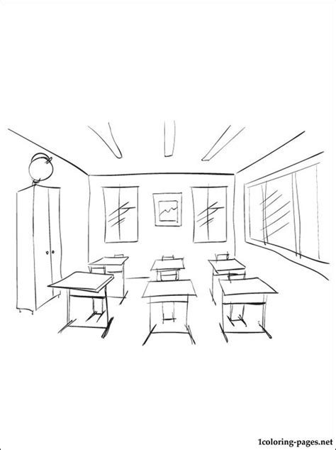 free coloring pages of classroom objects