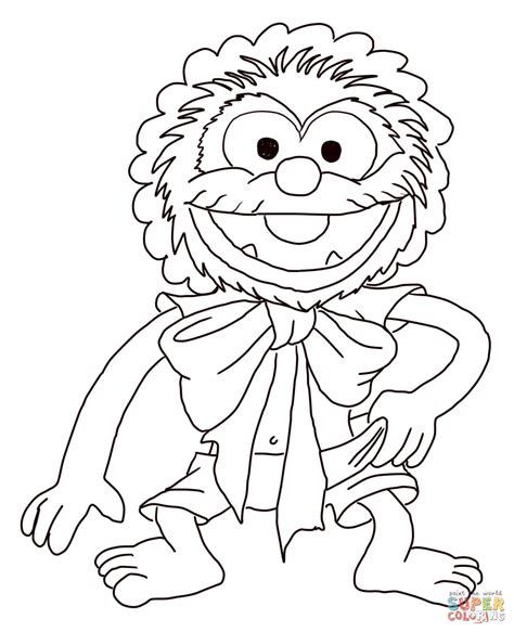 muppet babies baby animal coloring page free printable