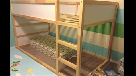 diy ikea loft bed ikea kura bed how we assembled the bed star of paris diy youtube