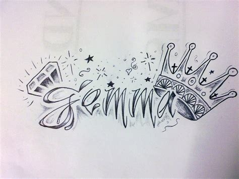 gemma name design by valleyink on deviantart