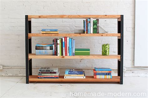 make it easy diy industrial modern bookcase 187 curbly