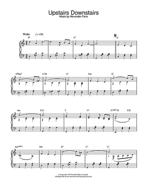 Theme Music Upstairs Downstairs | upstairs downstairs sheet music by alexander faris piano
