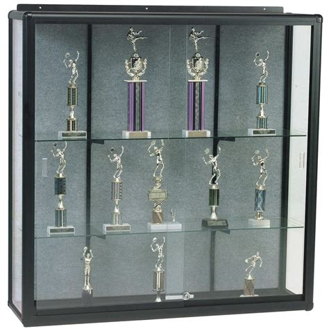 wall mounted trophy cabinets wall mount display case mooreco inc best rite balt