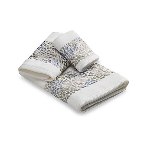 Bed Bath And Beyond Exchange Policy Croscill 174 Spa Tile Bath Towel Collection Bed Bath Amp Beyond