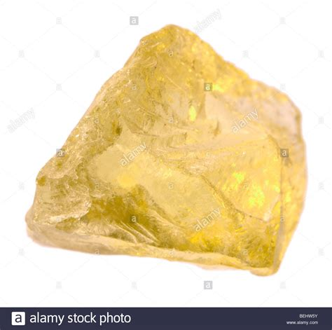 Yellow Citrin citrine yellow quartz stock photo