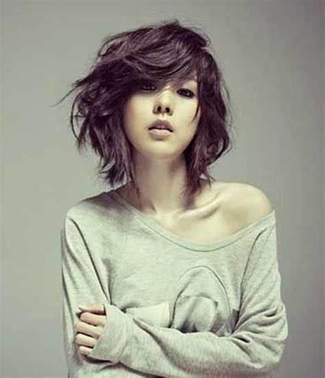 choppy bob hairstyle for thick hair 29 best short wavy hairstyles images on pinterest hair