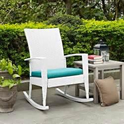 wicker rocking chair high back porch rocker patio seat cushion outdoor furniture ebay