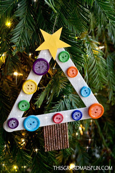 diy kids craft stick christmas tree ornament tgif