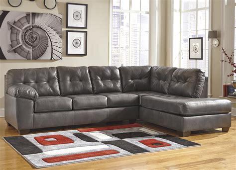 ashley furniture signature design sectional ashley signature design alliston durablend 174 gray