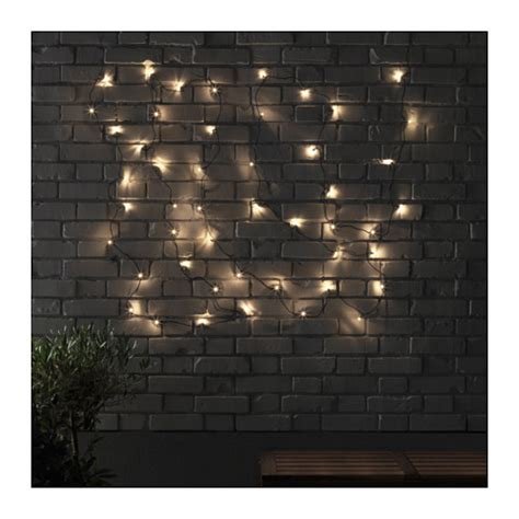 Ikea Outdoor Lighting Skruv Led Lighting Chain With 48 Lights Outdoor Black Ikea