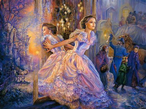 painting princess reflection beautiful mirror painting