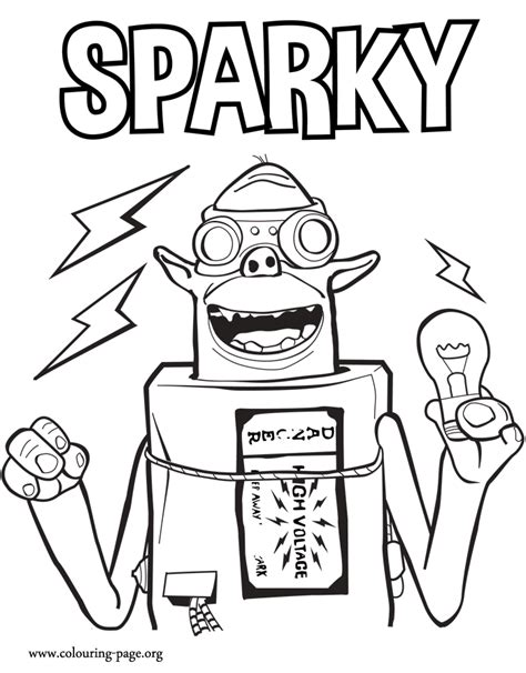 coloring pages of sparky the free coloring pages of boxtrolls eggs
