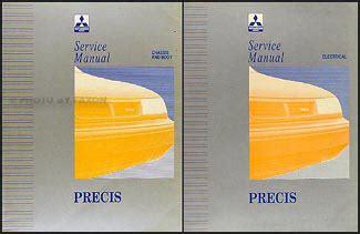 1994 mitsubishi precis repair shop manual set original