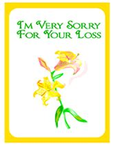 sorry for your loss card template free printable sorry for your loss sympathy card